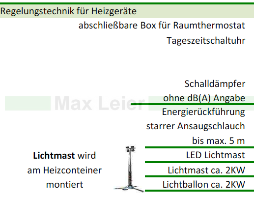 Lichtmast Container Bauausleuchtung