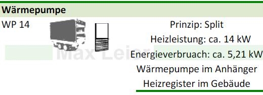 Waermepumpen mieten, Waermetauscher mit Wasser und Frostschutz